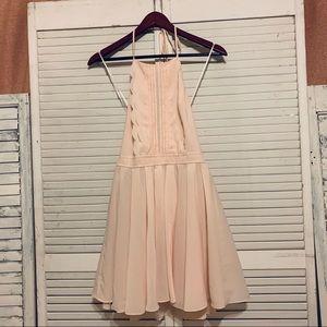 Double Zero Pale Pink Halter Dress
